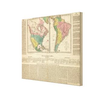 European Discovery of America Atlas Map Canvas Print