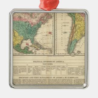 European Discovery of America Atlas Map Christmas Ornament