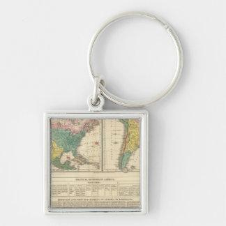 European Discovery of America Atlas Map Key Ring