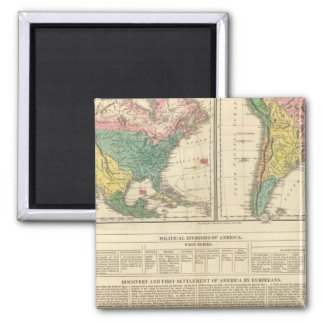 European Discovery of America Atlas Map Magnet