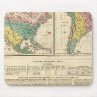 European Discovery of America Atlas Map Mouse Mat