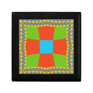 European ethnic tribal pattern small square gift box