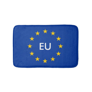 European flag bath mat | Monogram bathroom rug