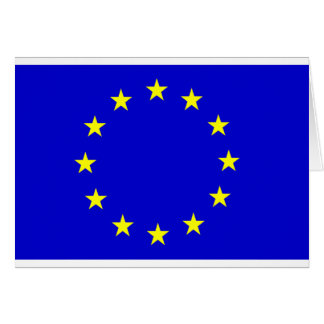 European Flag Card