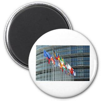 European Flags 6 Cm Round Magnet