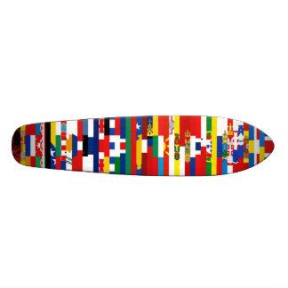 European Flags Skateboard