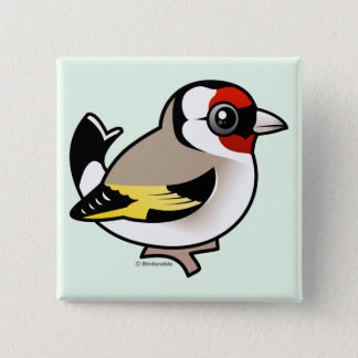 European Goldfinch 15 Cm Square Badge