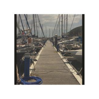 European Island Ship dock Wood Print