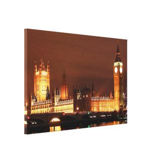 European London Skyline Canvas Print