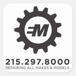 European Motor Services, LLC Decal Square Sticker