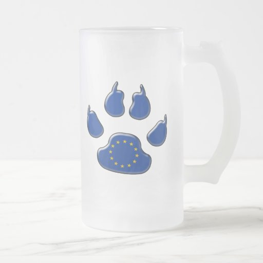 European patriotic dog coffee mug