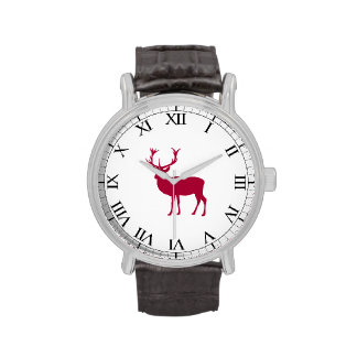 European Red Deer Christmas or Stag Party Wrist Watches
