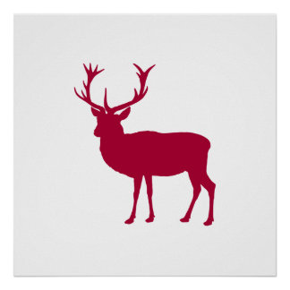 European Red Deer Christmas or Stag Party Posters