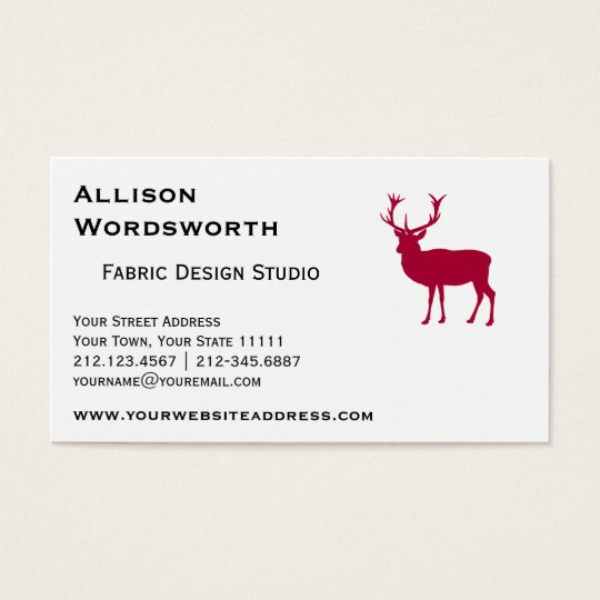 European Red Deer Stag - Stag Party Business Card