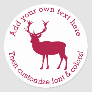 European Red Deer Stag - Stag Party Classic Round Sticker