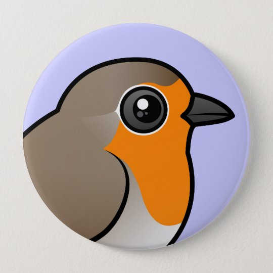 European Robin 10 Cm Round Badge