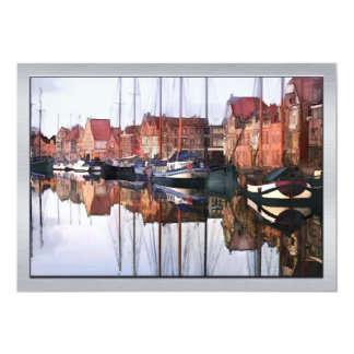 European Seaport Village 13 Cm X 18 Cm Invitation Card