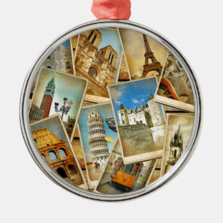 European snapshots christmas ornament