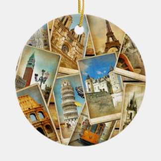 European snapshots christmas ornament