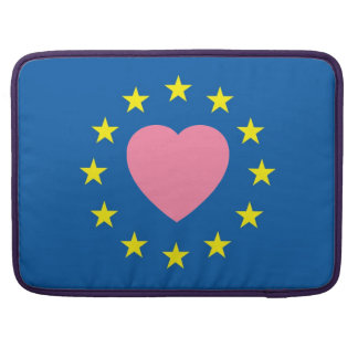 "European symbol and heart on Macbook 15"" Sleeve"