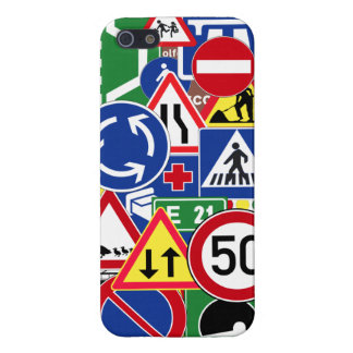 European Traffic Signs Collage Cover For iPhone 5/5S