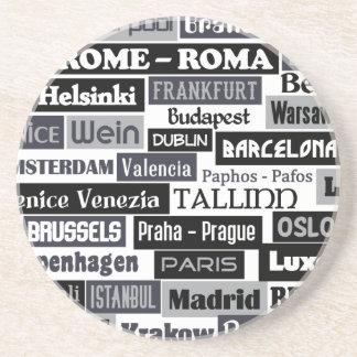 European Traveler custom coaster