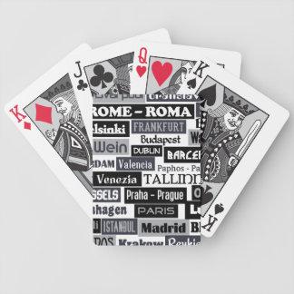 European Traveler custom playing cards
