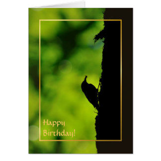 European treecreeper greeting card