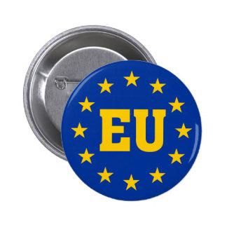 European Union, EU Flag 6 Cm Round Badge