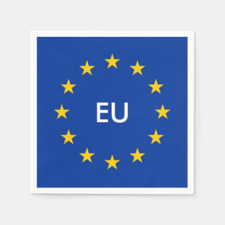 European Union EU flag paper party napkins Paper Napkin