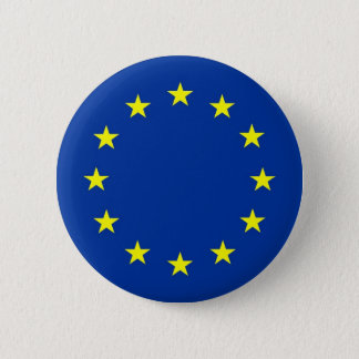 european union flag 6 cm round badge