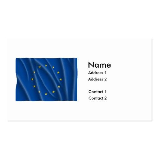 EUROPEAN UNION FLAG BUSINESS CARDS
