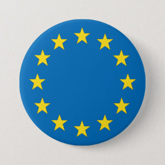 European Union flag EU referendum StrongerIn 7.5 Cm Round Badge