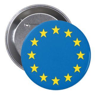 European Union flag EU referendum StrongerIn 7.5 Cm Round Badge