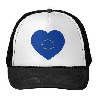 European Union Flag Heart Cap