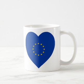 European Union Flag Heart Coffee Mug