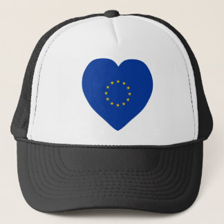 European Union Flag Heart Trucker Hat