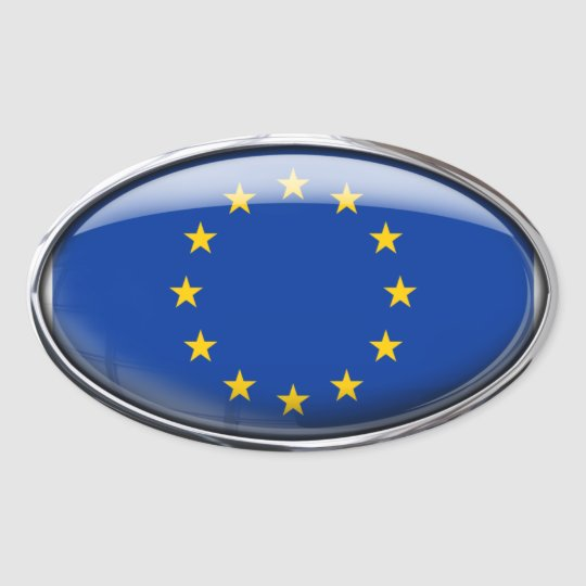 European Union Flag in Glass Oval (pack of