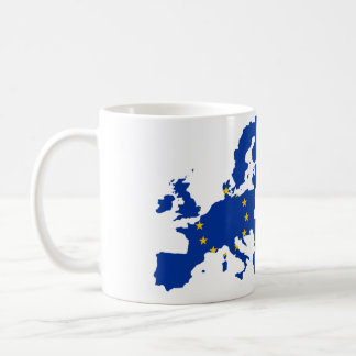 European Union Flag Map Basic White Mug