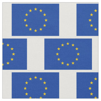 European Union flag pattern DIY fabric textile
