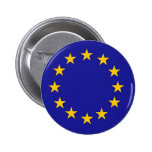 European Union Flag Pinback Button
