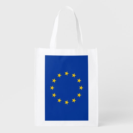 European Union flag reusable grocery shopping bag