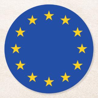 European Union flag Round Paper Coaster