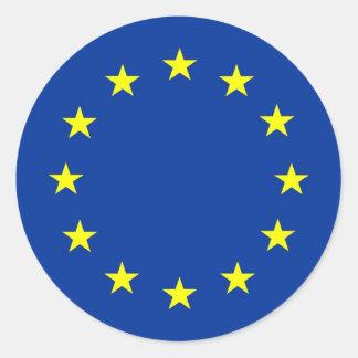 european union flag round sticker