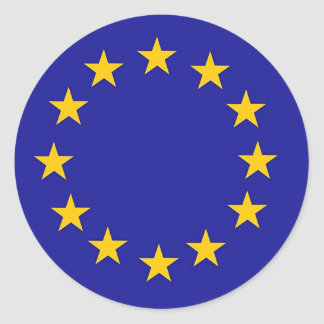European Union Flag Round Sticker