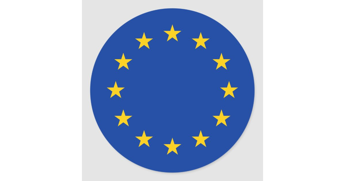 European union flag round stickers eu europe zazzle