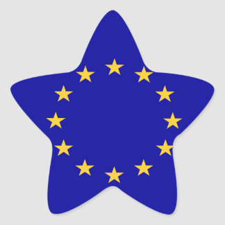 European union flag star sticker