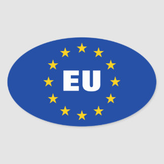 European Union flag stickers | Customizable EU