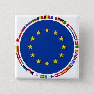 European Union Flags 15 Cm Square Badge