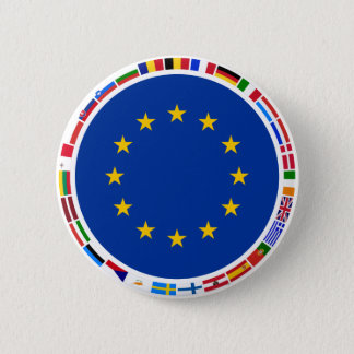 European Union Flags 6 Cm Round Badge